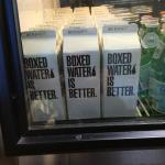Only boxed water served at Crisp!