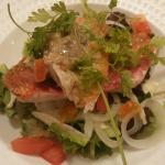 Salade de rougets barbets, fenouils croquants, vinaigrette légère à l'anchois