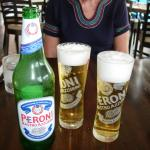 Peroni in chilled glasses