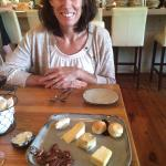 The four cheese plate was wonderful.