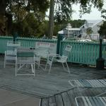 There is ample seating around the pool