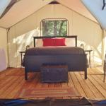 One of our 2 glamping tents, only available in the summer!