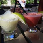 Lime & Strawberry Margaritas