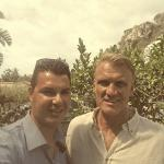 Our driver Claudio with Dolph Lundgren during Taormina Film Festival 2015