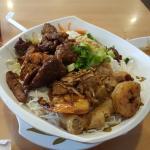 Vermicili with pork and shrimp