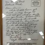 Letter from Clyde Barrow (Bonnie & Clyde fame) to Ford praising their cars