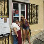 Foto con la dueña del restaurante, como en familia nos hicieron sentir