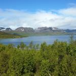 Vue du fjord depuis le chalet