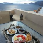 The view of the caldera, and picnic lunch