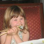 The veggie sushi is yum