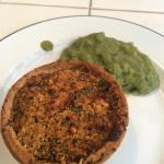 Veggie Pie and Peas