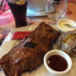 BBQ ribs et pomme de terre au four