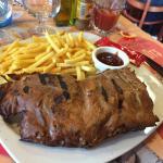 BBQ ribs et frites
