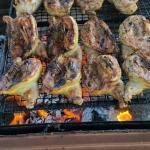 Huli Huli chicken at the Anahola Farmers Market