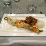 Brochettes exotiques (gambas, lotte, saumon et espadon)