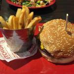 Original cheeseburger and fries
