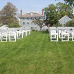 Set Up for the Ceremony in the Upper Garden