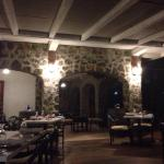 Absolutely charming ambiance. Love the stone work! Incredible breeze. Food beautifully presented