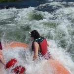 white water surfing in a class III