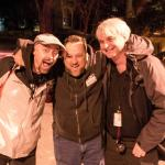 TV ghost hunter and guide, Patrick Burns, with friends Jim O'Rear, horror film actor, and Scott
