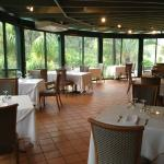 Dine on our enclosed terrace with great views to the garden