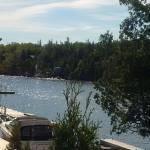 Boats docked at the hotel marina
