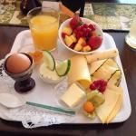 Vegetarisches und türkisches Frühstück
