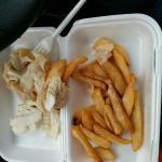 Scrummies medium fish & chips (£7)