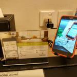 Smartphone proposé par l'hotel (gratuit)