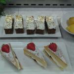 Yummy carrot cake and a delicous sponge