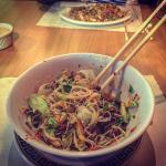 Fried Rice and Vermicelli‎ Noodle with Grilled Beef