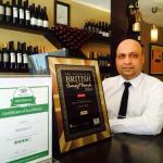 Polash with TripAdvisor Certificate of Excellence Award 2014