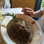 Lamb Shank with lentils