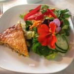 Ham Quiche with a beautiful salad