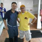 Shane with Timmy Mallet