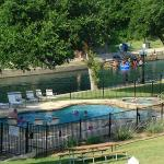 Our Pool overlooks the Comal River!