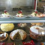 whole selection of cakes