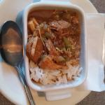 Gumbo-- perfect amount of heat and flavor, just the right touch!