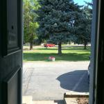 View out the door