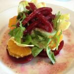 Beet Orange Endive salad