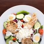 Salat nach Art des Hauses.