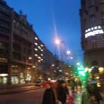 Пешеходная улица Белград и отель Европа