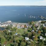 Aerial view of Lincolnville Beach