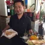 Yam serving a delicious Nepalese Thali.