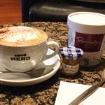 Porridge and Cappuccino