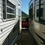 how close our trailer was to another when we were in our site