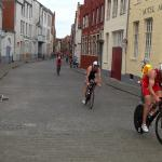 We were lucky enough to be there for the Bruge Triathlon.