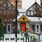 Sherlock Holmes pub ,exterior in the winter.