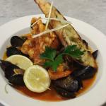 Zuppa di Pesce, a traditional Italian fish stew in a herb tomato chilli broth. Delizioso!