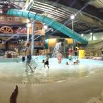 Front side of indoor water park - it's bigger than this